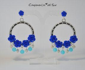 Pendientes de Flamenca Azules