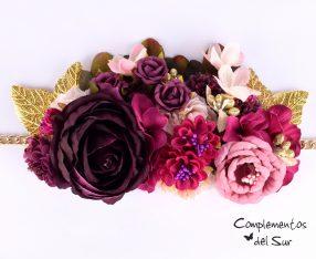 Cinturón con flores