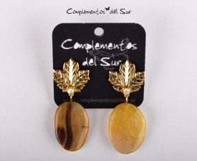 499c482cfb37 Pendientes dorados y lilas - Complementos del Sur