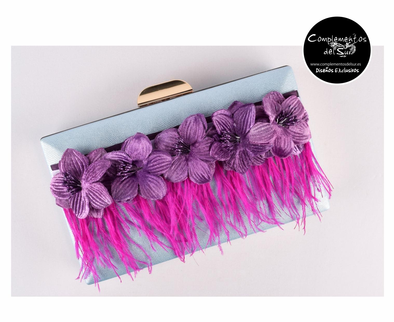 Boutique en ligne 24377 5d206 Bolso de Fiesta con plumas